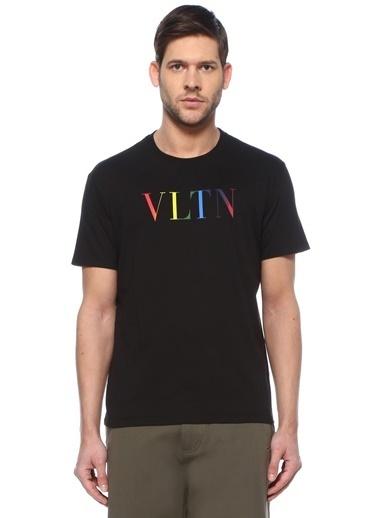 Valentino Valentino VLTN  Bisiklet Yaka T-shirt 101619316 Siyah